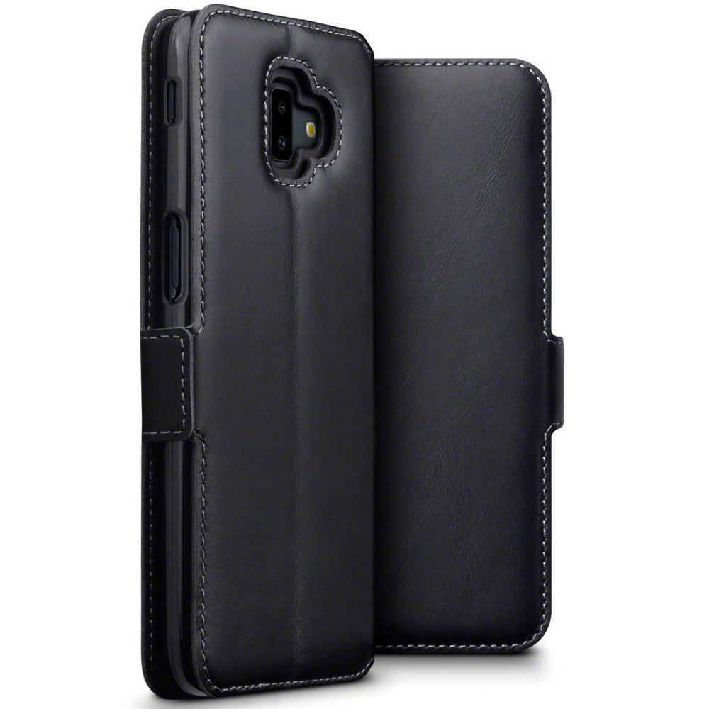 Terrapin Cases Terrapin Samsung Galaxy J6 Plus 2018 Low Profile Genuine Leather  Wallet Case - Black