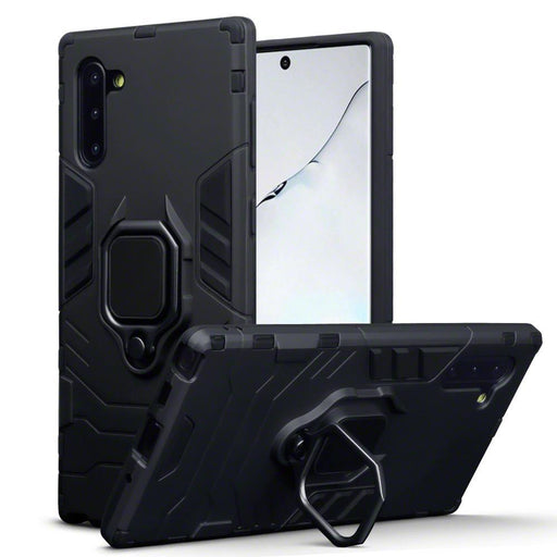 Terrapin Cases Terrapin Samsung Galaxy Note 10 Dual Layer Shock Resistant Case + Stand - Black