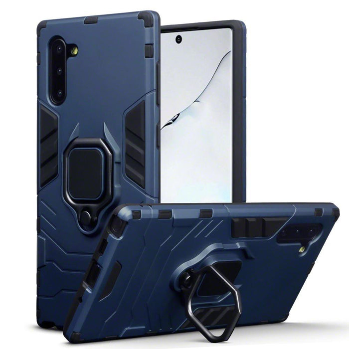 Terrapin Cases Terrapin Samsung Galaxy Note 10 Dual Layer Shock Resistant Case + Stand - Blue