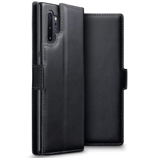 Terrapin Cases Terrapin Samsung Galaxy Note 10 Pro Ultra Slim Genuine Leather Wallet Case - Black