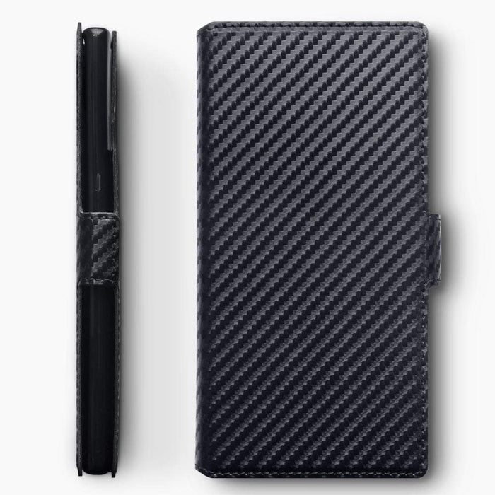 Terrapin Cases Terrapin Samsung Galaxy Note 10 Pro Ultra Slim PU Leather Wallet Case - Black Carbon Fibre Texture