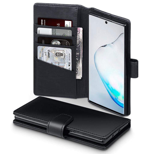 Terrapin Cases Terrapin Samsung Galaxy Note 10 Real Leather Wallet Case - Black