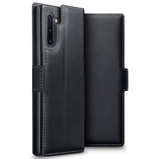 Terrapin Cases Terrapin Samsung Galaxy Note 10 Ultra Slim Genuine Leather Wallet Case - Black