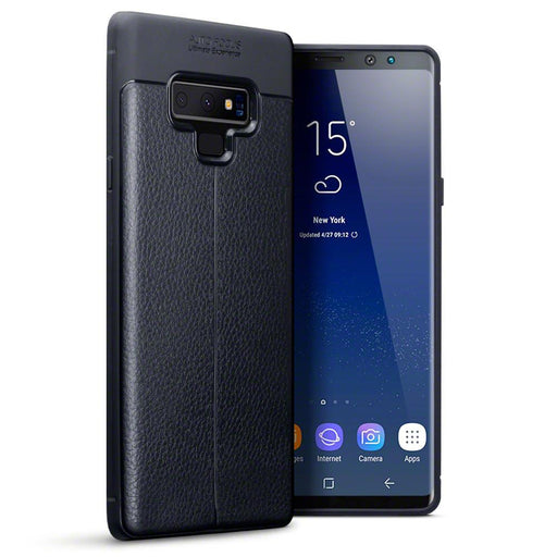 Terrapin Cases Terrapin Samsung Galaxy Note 9 Leather Design TPU Gel Case - Black