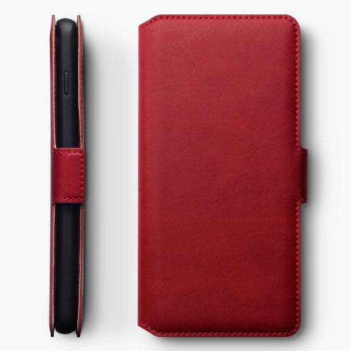 Terrapin Cases Terrapin Samsung Galaxy S10 Low Profile Genuine Leather Wallet Case - Red