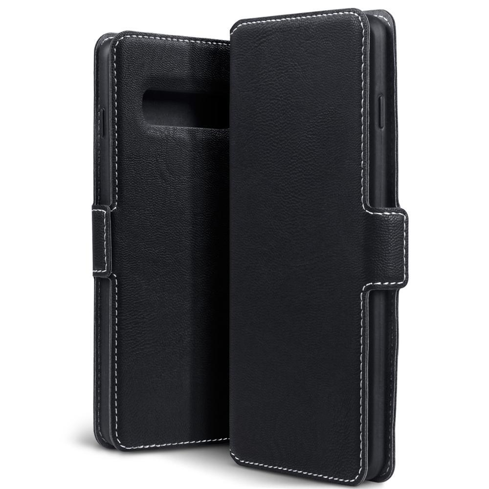 Terrapin Cases Terrapin Samsung Galaxy S10 Low Profile PU Leather Wallet Case - Black
