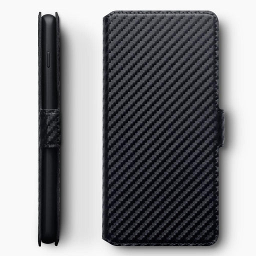 Terrapin Cases Terrapin Samsung Galaxy S10 Plus Low Profile PU Leather Wallet Case - Black Carbon Texture