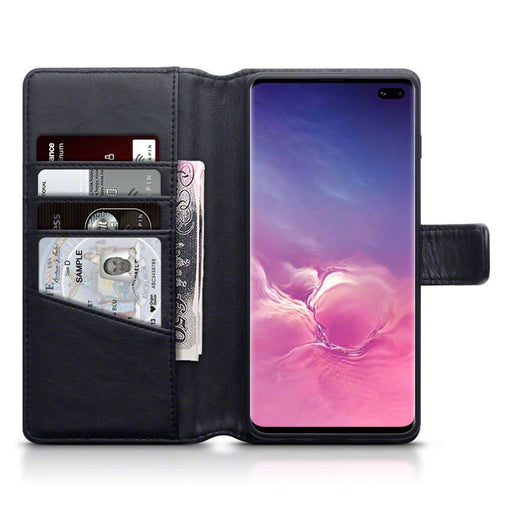Terrapin Cases Terrapin Samsung Galaxy S10 Plus Real Leather Wallet Case - Black