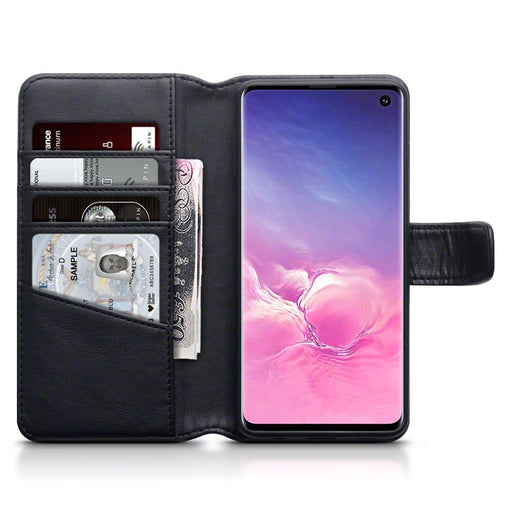 Terrapin Cases Terrapin Samsung Galaxy S10 Real Leather Wallet Case - Black
