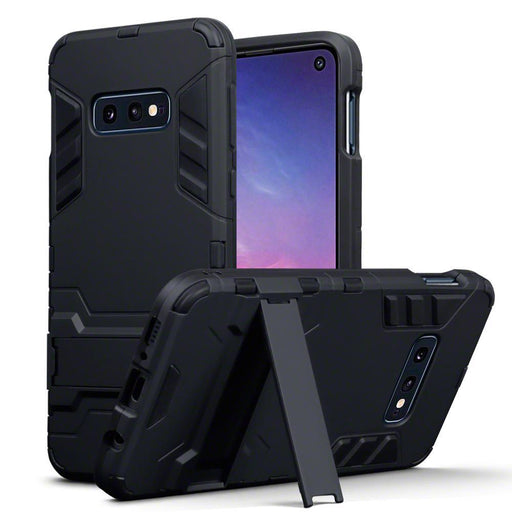 Terrapin Cases Terrapin Samsung Galaxy S10e Dual Layer Armour Case with Stand - Black