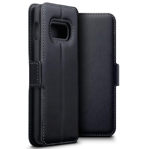 Terrapin Cases Terrapin Samsung Galaxy S10e Low Profile Genuine Leather Wallet Case - Black