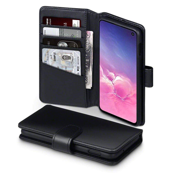 Terrapin Cases Terrapin Samsung Galaxy S10e Real Leather Wallet Case - Black