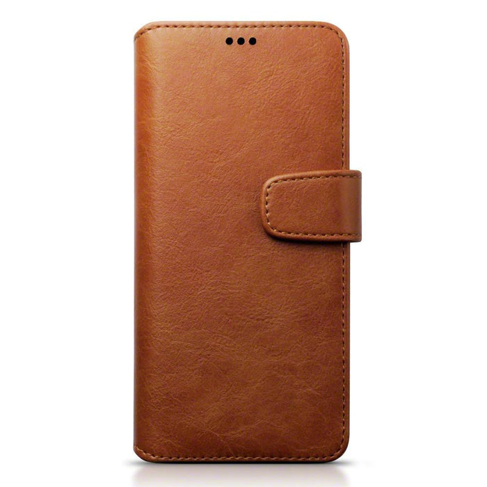 Terrapin Cases Terrapin Samsung Galaxy S8 Plus Faux Leather Wallet Case with Stand Function - Cognac