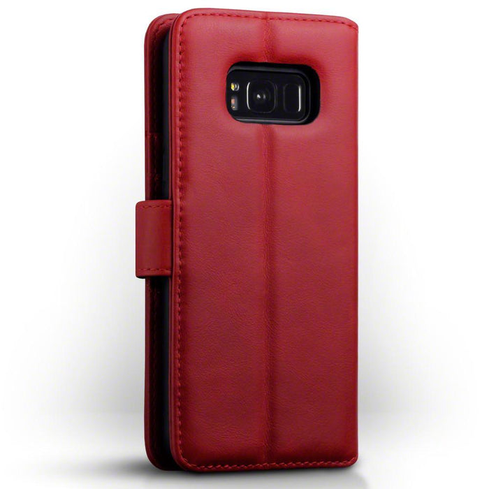 Terrapin Cases Terrapin Samsung Galaxy S8 Plus Real Leather Wallet Case - Red