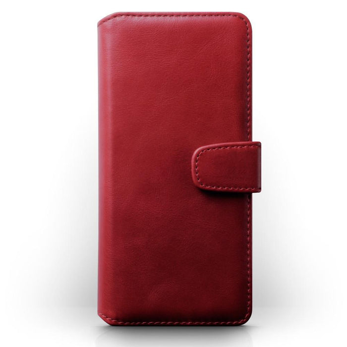 Terrapin Real Leather Wallet Case - Red for Samsung Galaxy S20