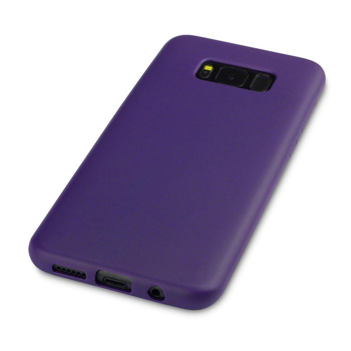 Terrapin Samsung Galaxy S8 Plus Slim Gel Case - Solid Purple Matte