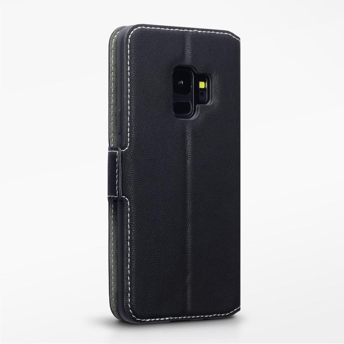 Terrapin Cases Terrapin Samsung Galaxy S9 Low Profile Faux Leather Wallet Case - Black