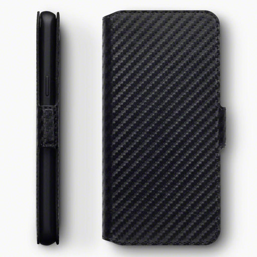 Terrapin Cases Terrapin Samsung Galaxy S9 Low Profile Faux Leather Wallet Case - Black Carbon Fibre Texture