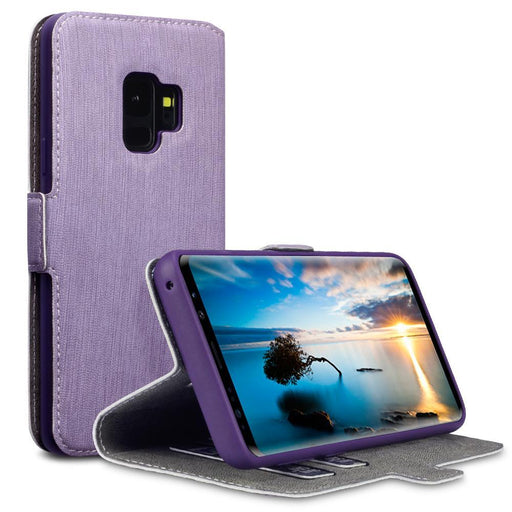 Terrapin Cases Terrapin Samsung Galaxy S9 Low Profile Faux Leather Wallet Case - Purple