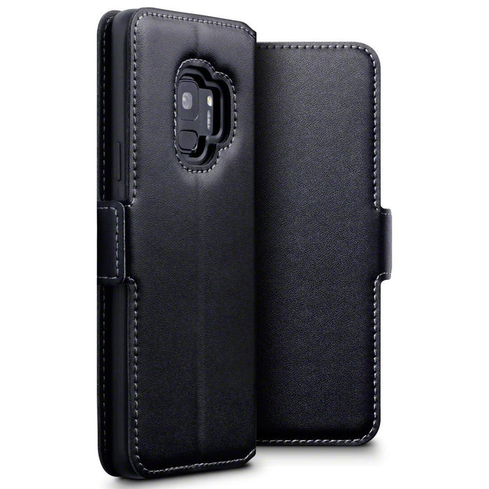 Terrapin Cases Terrapin Samsung Galaxy S9 Low Profile Genuine Leather Wallet Case - Black