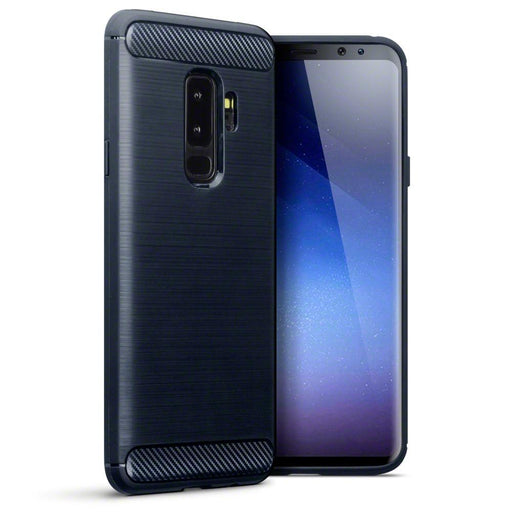 Terrapin Cases Terrapin Samsung Galaxy S9 Plus Carbon Fibre Design TPU Gel Case - Dark Blue