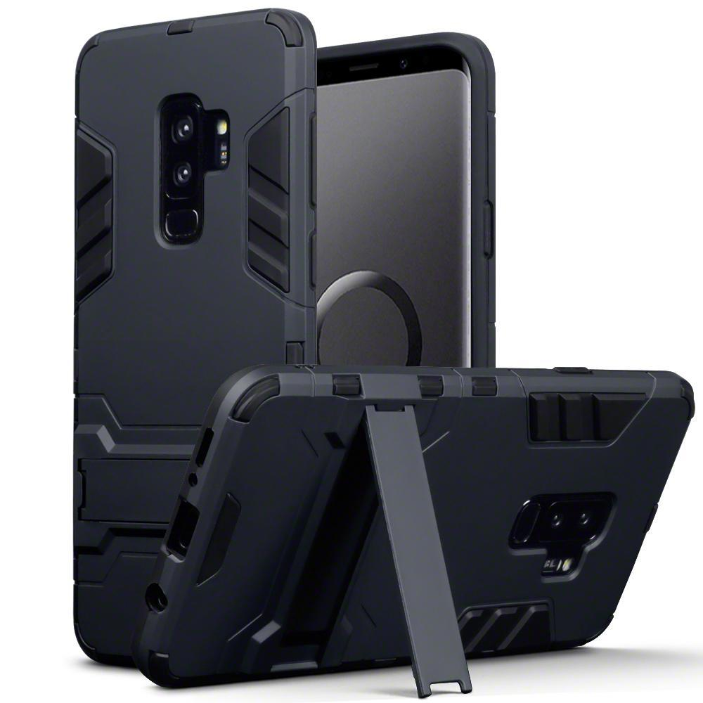 Terrapin Cases Terrapin Samsung Galaxy S9 Plus Impact Armour Stand Case - Black