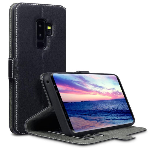 Terrapin Cases Terrapin Samsung Galaxy S9 Plus Low Profile Faux Leather Wallet Case - Black