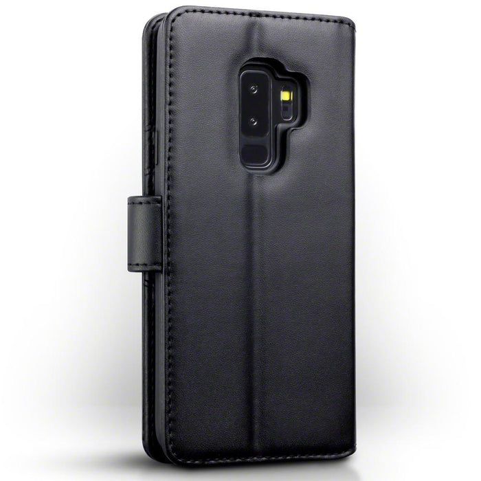 Terrapin Cases Terrapin Samsung Galaxy S9 Plus Real Leather Wallet Case - Black