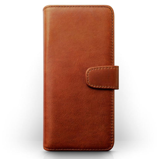 Terrapin Cases Terrapin Samsung Galaxy S9 Plus Real Leather Wallet Case - Cognac