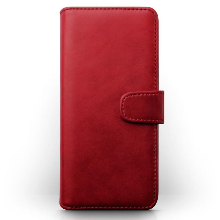 Terrapin Cases Terrapin Samsung Galaxy S9 Plus Real Leather Wallet Case - Red