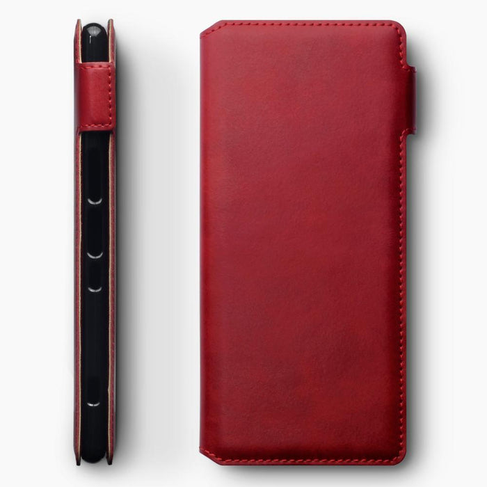 Terrapin Cases Terrapin Sony Xperia 1 Slim Genuine Leather Wallet Case - Red