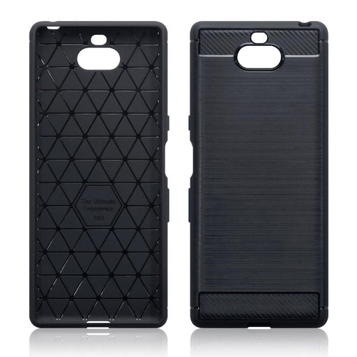 Terrapin Cases Terrapin Sony Xperia 10 Carbon Fibre Design TPU Gel Case - Black