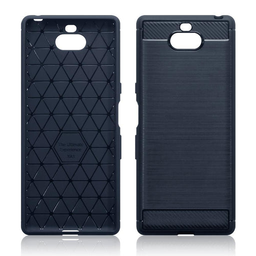 Terrapin Cases Terrapin Sony Xperia 10 Carbon Fibre Design TPU Gel Case - Blue