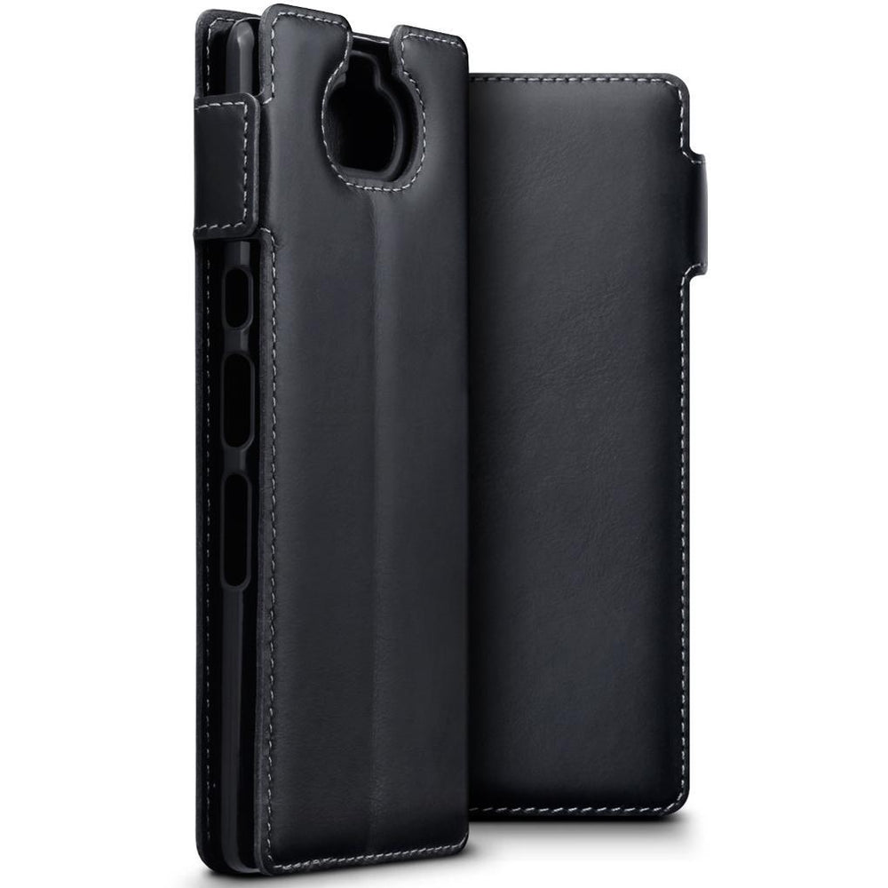 Terrapin Cases Terrapin Sony Xperia 10 Low Profile Genuine Leather  Wallet Case - Black