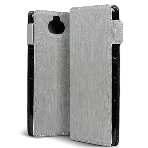 Terrapin Cases Terrapin Sony Xperia 10 Low Profile PU Leather  Wallet Case - Grey