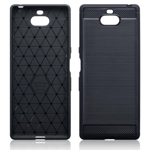 Terrapin Cases Terrapin Sony Xperia 10 Plus Carbon Fibre Design TPU Gel Case - Black