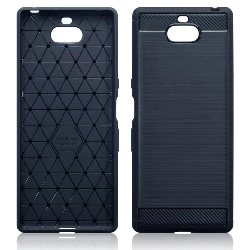 Terrapin Cases Terrapin Sony Xperia 10 Plus Carbon Fibre Design TPU Gel Case - Blue