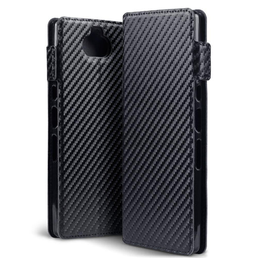 Terrapin Cases Terrapin Sony Xperia 10 Plus Low Profile PU Leather  Wallet Case - Black Carbon Texture