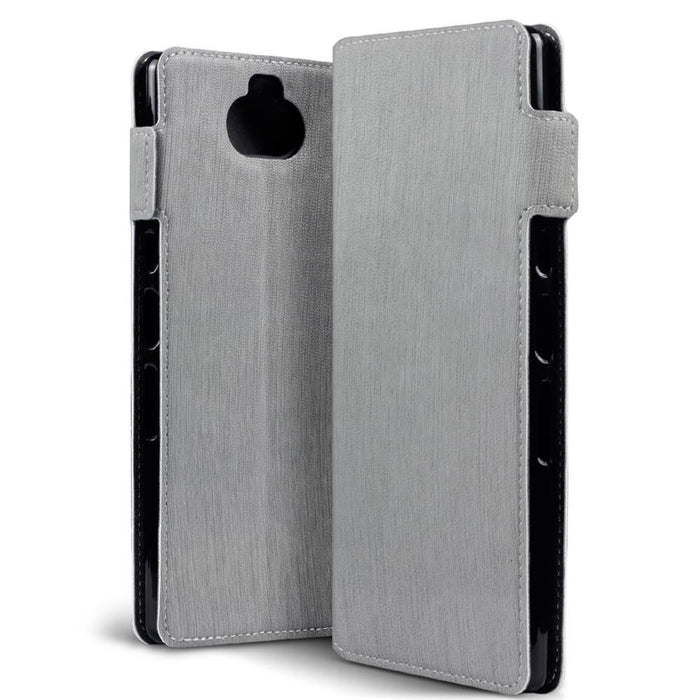 Terrapin Cases Terrapin Sony Xperia 10 Plus Low Profile PU Leather  Wallet Case - Grey