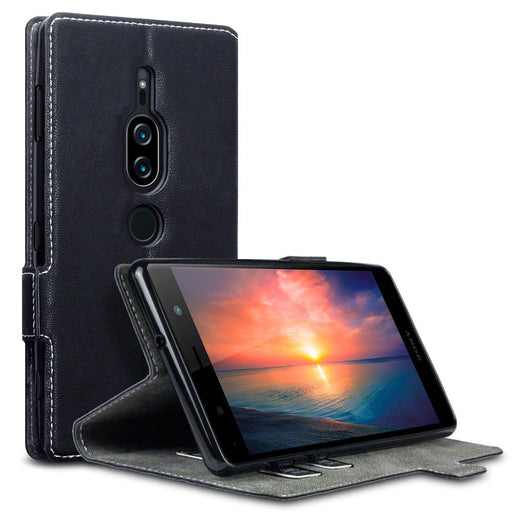 Terrapin Cases Terrapin Sony Xperia XZ2 Premium Low Profile Faux Leather Wallet Case - Black