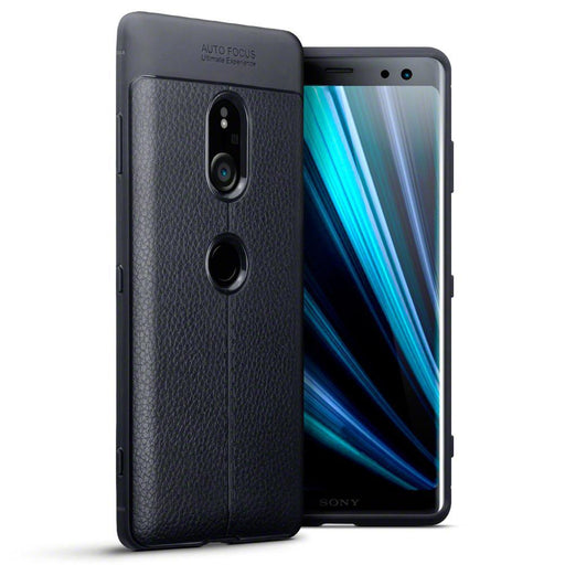 Terrapin Cases Terrapin Sony Xperia XZ3 Leather Design TPU Gel Case - Black