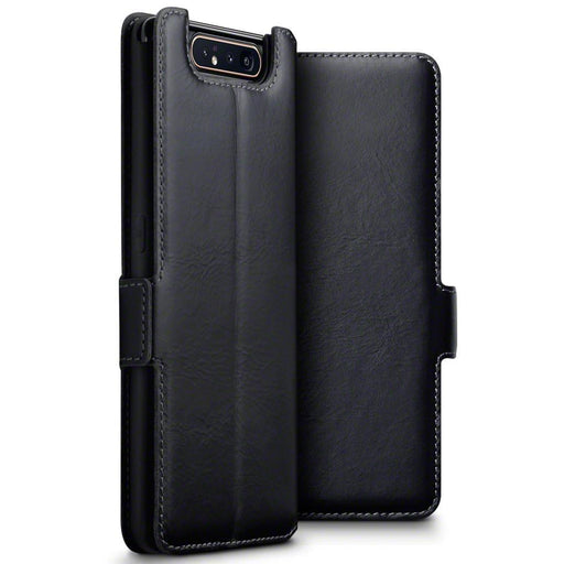Terrapin Screen Protection Terrapin Samsung Galaxy A80 Slim Fit Real Leather Wallet Case - Black