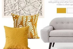 Matching the Luxury Decorative Pillows - Modern Yellow Matching White and Gray