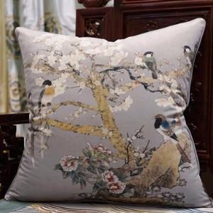 "Purple Bird Printing Pillow 20""X20"" - Gentille Home Collection - 1"