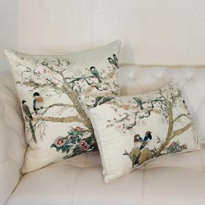 "White Bird Printing Pillow 20""X20"" - G Home Collection"