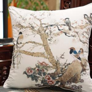 "White Bird Printing Pillow 20""X20"" - Gentille Home Collection - 1"