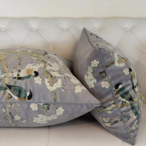 "Purple Bird Printing Pillow 20""X20"" - G Home Collection"