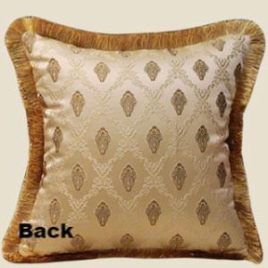 "Gold Verona Pillow Embellished With Trim 20""X20"" - G Home Collection"