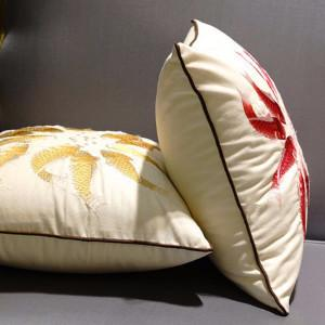 "Red Fish Embroidered Pillow 18""X18"" - G Home Collection"