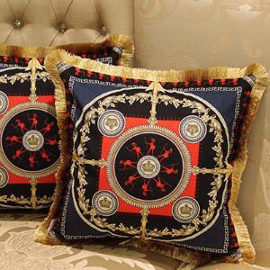 "Crusade Printing Pillow Embellished With Trim 20""X20"" - G Home Collection"